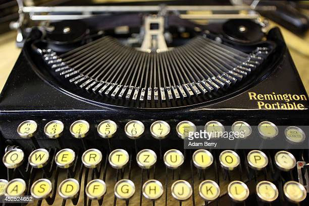 Remington Portable typewriter sits prior to being repaired on July 22 2014 at the Arndt Hans Joachim Bueromaschinen office supply store in Berlin...