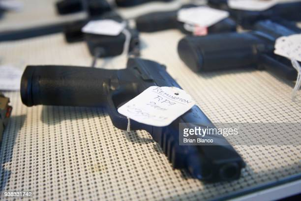 Remington RP9 9mm pistol sits for sale at Idol's Gun Rack gun shop on March 26 2018 in Kernersville North Carolina Founded in 1816 Remington is one...