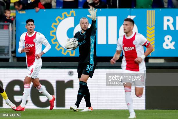Remko Pasveer of Ajax during the Dutch Eredivisie match between Fortuna Sittard and Ajax at Fortuna Sittard Stadion on September 21, 2021 in Sittard,...