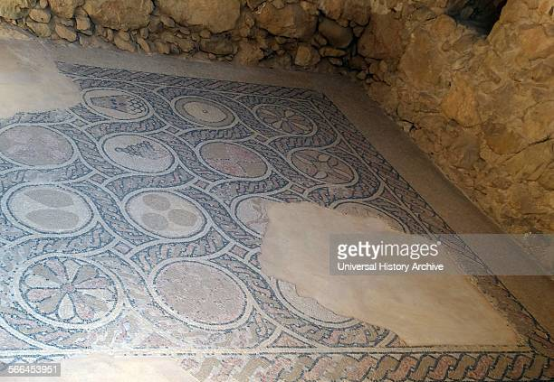 Remnants of a Byzantine church found on Masada dating to the 5th and 6th Centuries. Masada is an ancient fortification in the Southern District of...
