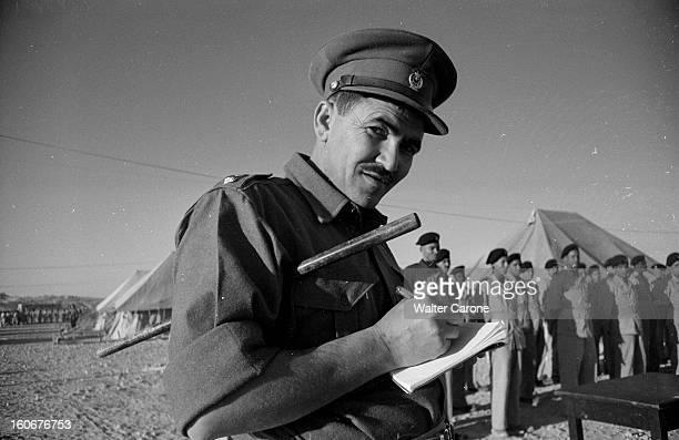 Remnants Of World War Ii In Tobruk Libye Mai 1954 Suites de la deuxième guerre mondiale reportage dans la ville de Tobrouk Soldat de Tobrouk écrivant...