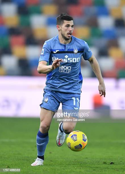 Remo Freuler of Atalanta BC in action during the Serie A match between Udinese Calcio and Atalanta BC at Dacia Arena on January 20, 2021 in Udine,...