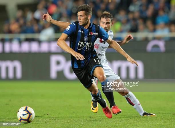 Remo Freuler of Atalanta BC in action during the serie A match between Atalanta BC and Cagliari at Stadio Atleti Azzurri d'Italia on September 2 2018...