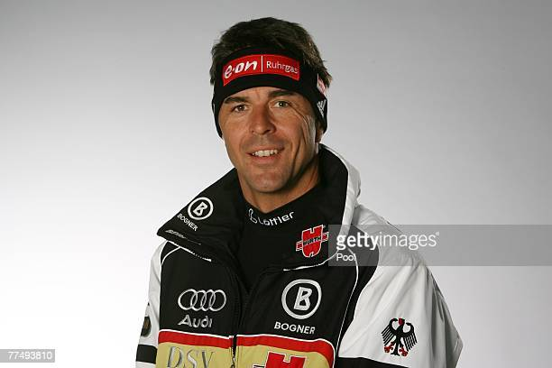 Remo Krug poses during the DSV photo call at the Audi Forum on October 19 2007 in Ingolstadt Germany