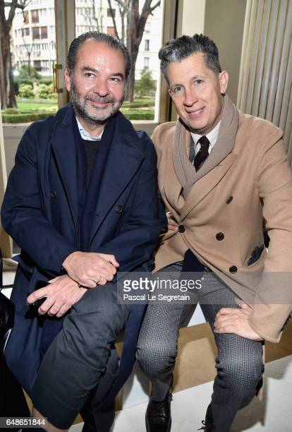 Remo Ruffini and Stefano Tonchi attend the Giambattista Valli show as part of the Paris Fashion Week Womenswear Fall/Winter 2017/2018 on March 6 2017...