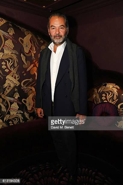 Remo Ruffini Chairman CEO of Moncler attends the Moncler Freeze For Frieze Dinner Party at the Moncler Bond Street Boutique on October 7 2016 in...