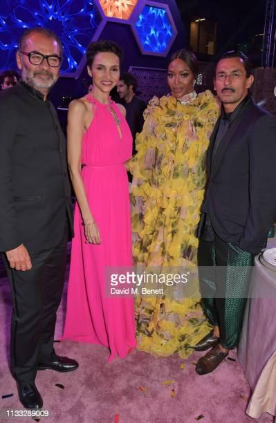 Remo Ruffini Farida Khelfa Naomi Campbell and Haider Ackermann attend the Fashion Trust Arabia Prize awards ceremony on March 28 2019 in Doha Qatar
