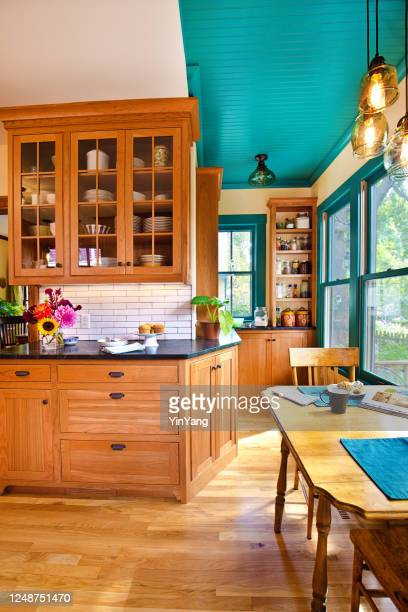 remodeled contemporary classic kitchen design with kitchen dining table - istock images stock pictures, royalty-free photos & images