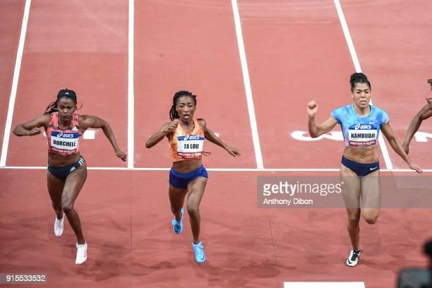 Remona Burchell Marie Josee Ta Lou and Mujinga Kambudji during the Meeting of Paris Indoor 2018 at AccorHotels Arena on February 7 2018 in Paris...