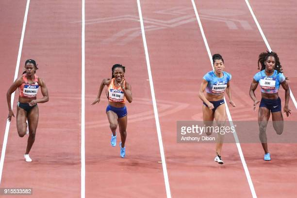 Remona Burchell Marie Josee Ta Lou Mujinga Kambudji and Carolle Zahi during the Meeting of Paris Indoor 2018 at AccorHotels Arena on February 7 2018...