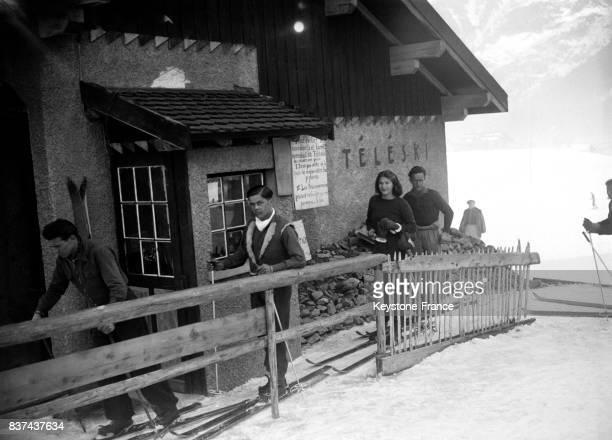 Remontée mécanique à Chamonix France en 1946