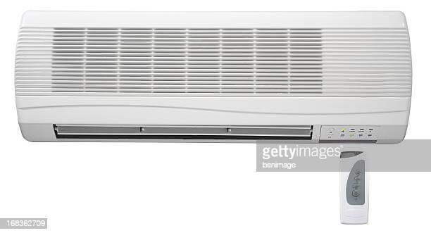 remote control and air conditioner - ventilator stock pictures, royalty-free photos & images