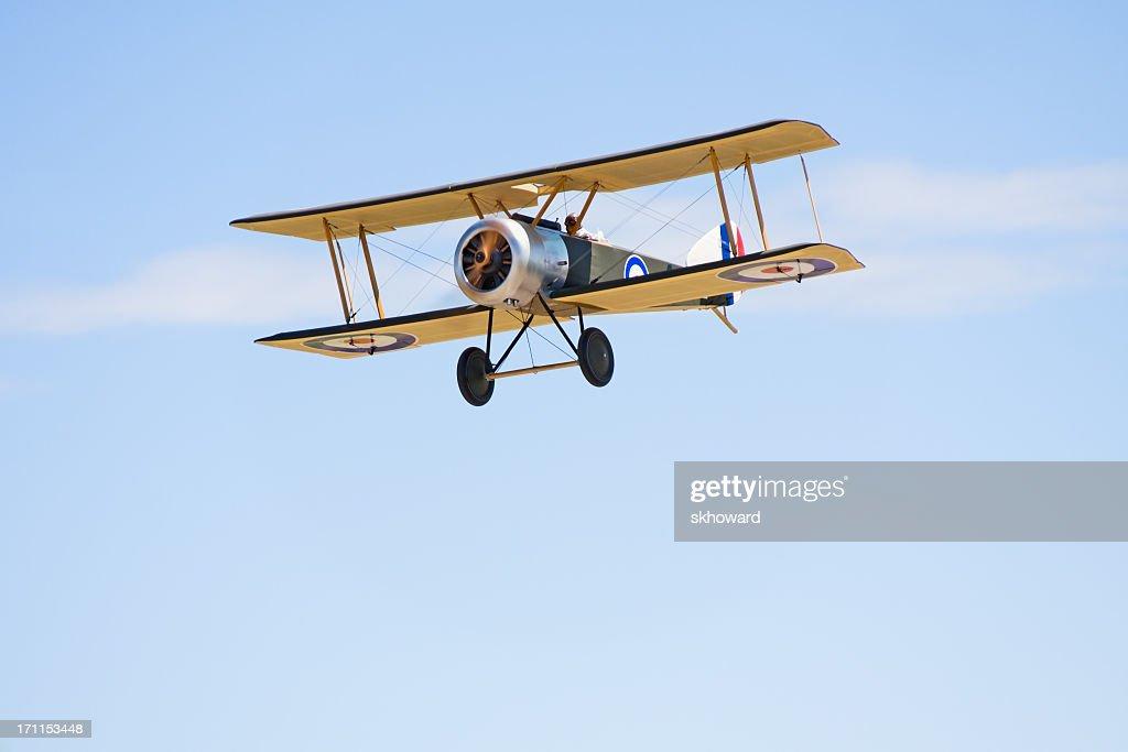 Remote Control Biplane in Flight : Stock Photo