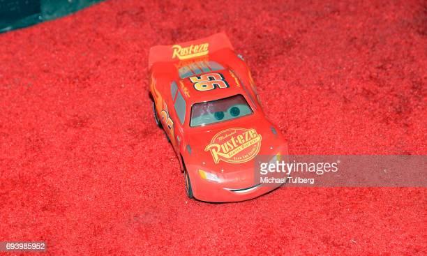 Remote control 'Lightning McQueen' car at Disney's Cars x Sportie LA Event at Sportie LA on June 8 2017 in Los Angeles California