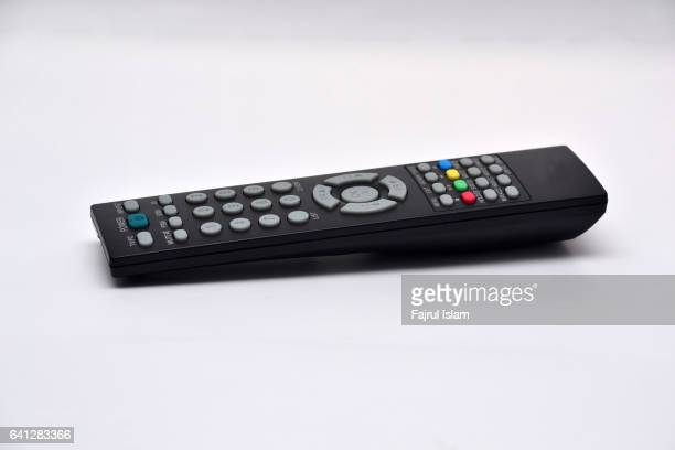 TV remote control on white background (with clipping path)