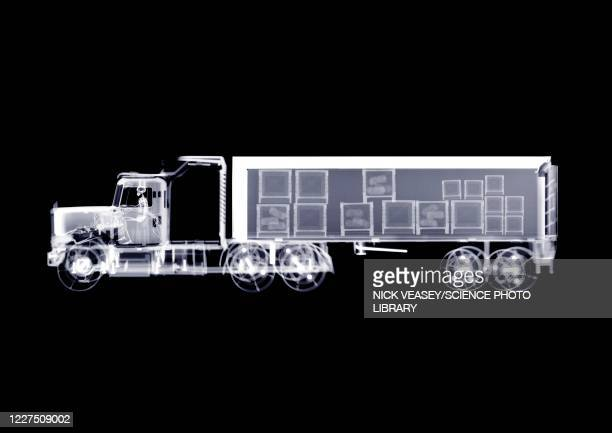 remote controlled lorry with contents, x-ray - mode of transport stock pictures, royalty-free photos & images