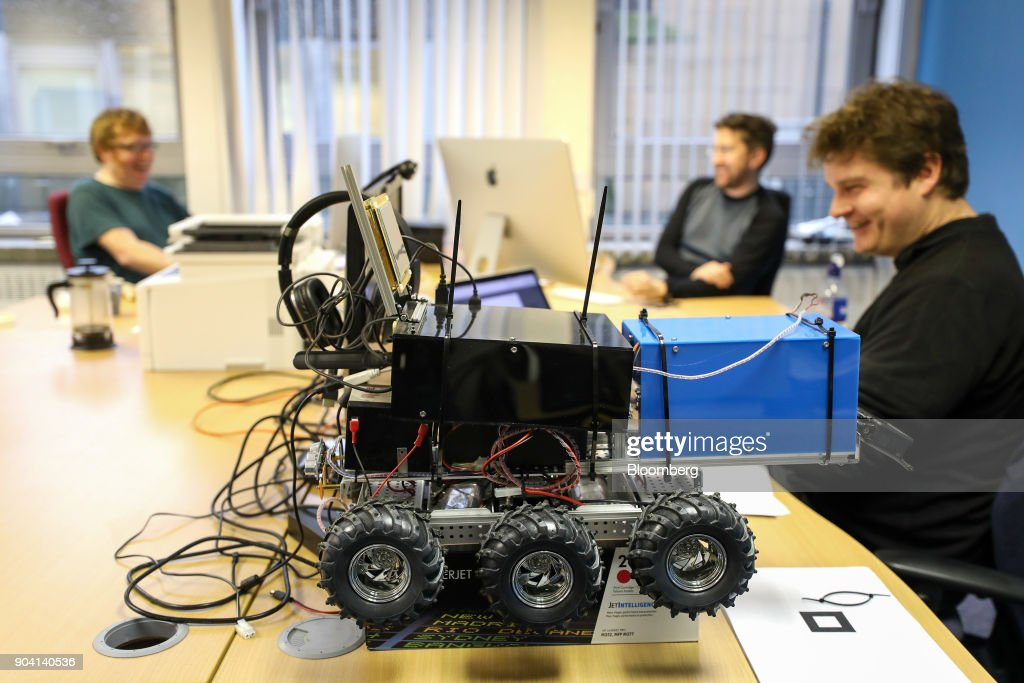 A remote controlled vehicle sits on the desk at the machineswithvision.com offices at the Codebase offices in Edinburgh, U.K., on Tuesday, Feb. 7, 2017. More coders are choosing to live in Edinburgh over London, according to a report by developer community Stack Overflow, reported the Scotsman in Dec. 2017. Photographer: Chris Ratcliffe/Bloomberg via Getty Images