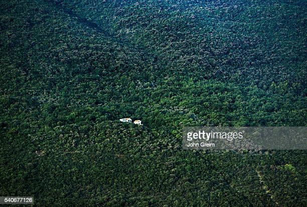 Remote hillside house