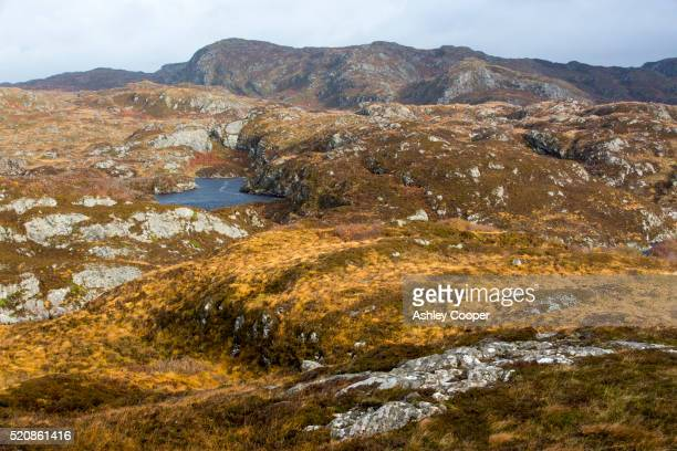 Remote moorland near Achmelvich in Assynt, Scotland, UK.