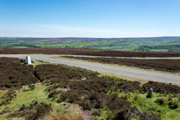 Remote road in the North York Moors, England