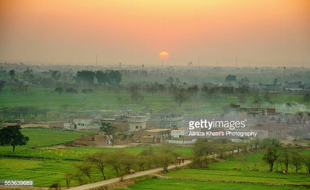 remote village - punjab pakistan stock photos and pictures