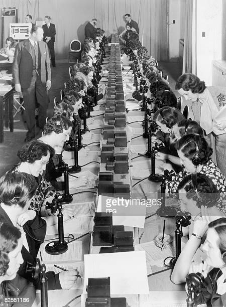 May 1935, American Broadcasting Company operators take telephone votes for the performers on Amateur Hour, a radio show conceived by Major Edward...