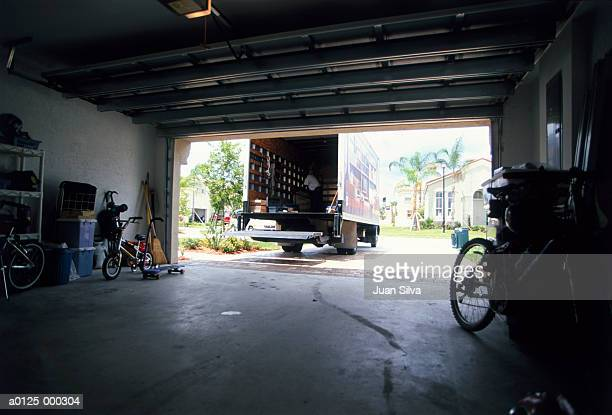 Removal Truck by House