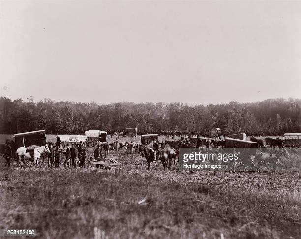 Removing Dead from Battlefield, Marye's Heights, May 2 1864. Formerly attributed to Mathew B. Brady. Artist Andrew Joseph Russell.