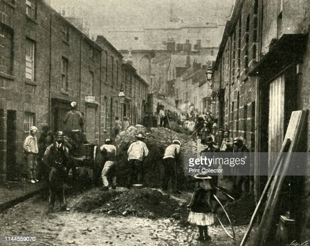 Removing Debris Brought Down By A Flood At St Ives' 1901 From The Harmsworth Magazine Volume VI February 1901July 1901 by [Harmsworth Bros Limited...