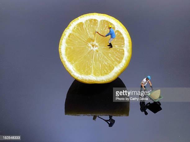 Removing lemon seeds