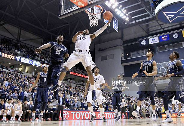 Remy Abell of the Xavier Musketeers shoots the ball against the Georgetown Hoyas at Cintas Center on January 19 2016 in Cincinnati Ohio