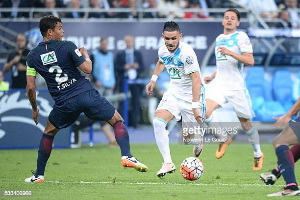 Remy Cabella of Marseille during the French Cup Final between Paris Saint Germain and Marseille at Stade de France on May 21 2016 in Paris France