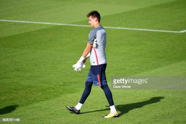 Remy Descamps of PSG during the first preseason training session of Paris SaintGermain on July 4 2017 in Paris France