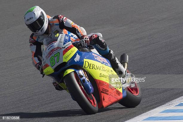 Remy Gardner of Australia and Team Tasca Scuderia Moto2 heads down a straight during the Moto2 race during the MotoGP of Japan Race at Twin Ring...