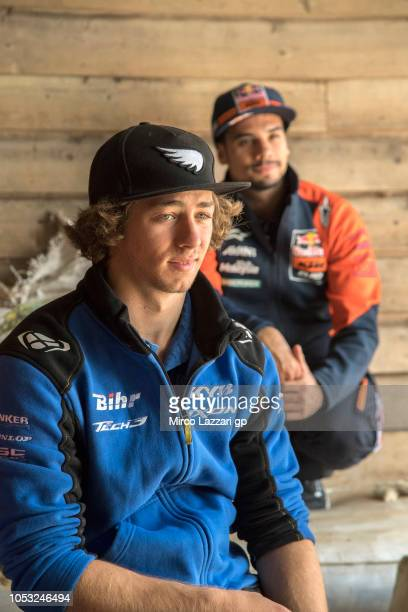 Remy Gardner of Australia and Tech3 Racing smiles during the preevent 'MotoGP Riders visiting the Churchill Farm' during the MotoGP of Australia...