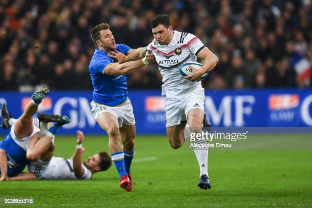 Remy Grosso of France during the NatWest Six Nations match between France and Italy at Stade Velodrome on February 23 2018 in Marseille France