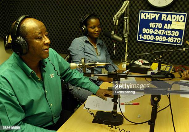 Remy LaCroix and Claudine Francois as they broadcast a radio show for Haitians Haitian radio show connects Haitians who are too spread out to have...