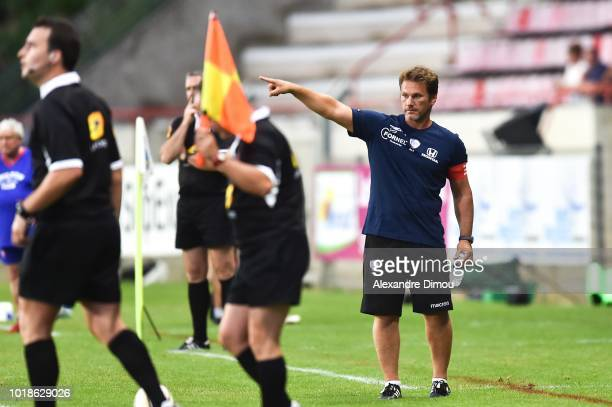 Remy Ladauge Coach of Soyaux during the French Pro D2 match between Beziers and Soyaux Angouleme on August 17 2018 in Beziers France