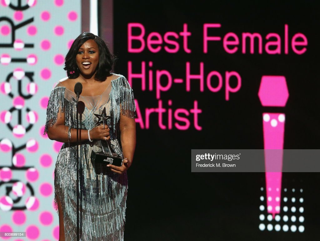 Remy Ma accepts the award for Best Female Hip Hop Artist onstage at 2017 BET Awards at Microsoft Theater on June 25, 2017 in Los Angeles, California.