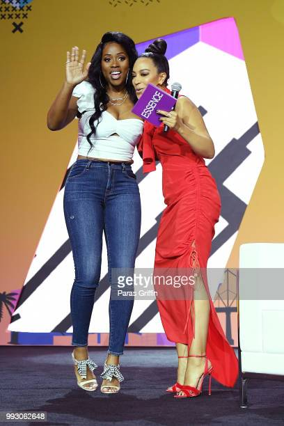 Remy Ma and Angela Rye speak onstage during the 2018 Essence Festival presented by CocaCola at Ernest N Morial Convention Center on July 6 2018 in...