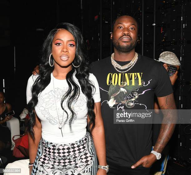 Remy Ma and Meek Mill atend the 2018 Essence Festival presented by CocaCola at Ernest N Morial Convention Center on July 7 2018 in New Orleans...