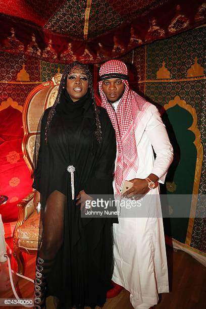 Remy Ma and Papoose attend Fabolous' A Night In FABU DHABI Birthday Celebration on November 18 2016 in New York City