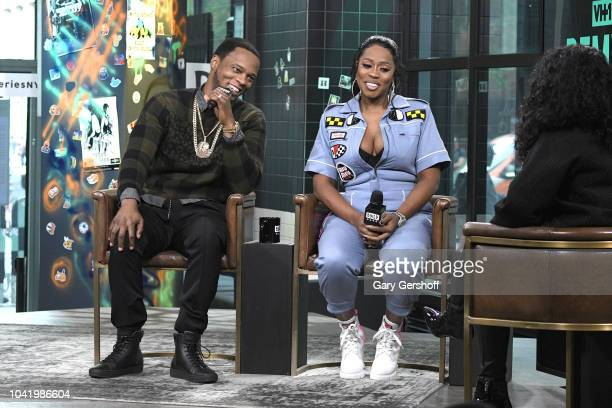 Remy Ma and Papoose visit Build Series to discuss the VH1 reality show 'Remy Papoose Meet the Mackies' at Build Studio on September 27 2018 in New...