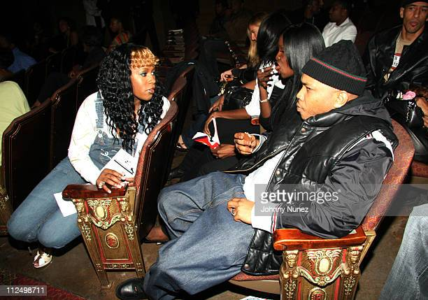 Remy Ma and Styles P during 2006 BET HipHop Awards Inside at Fox Theatre in Atlanta Georgia United States