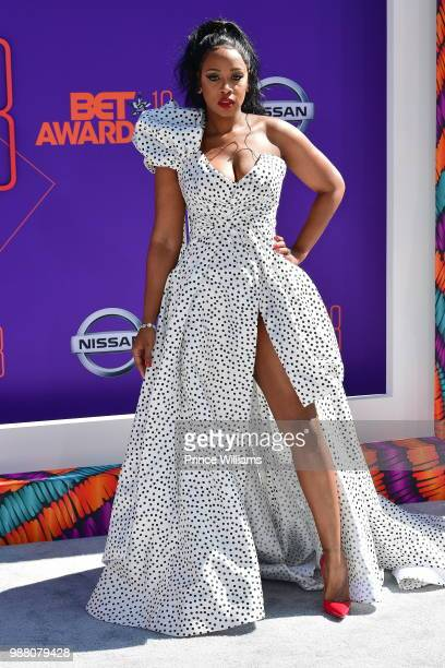 Remy Ma arrives to the 2018 BET Awards held at Microsoft Theater on June 24, 2018 in Los Angeles, California.
