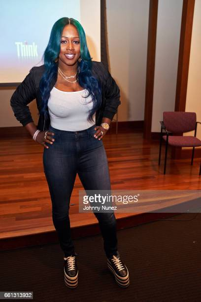 Remy Ma attends Breaking Boundaries presented by Women On The Move And HerSource With NYU OBE at NYU on March 30 2017 in New York City