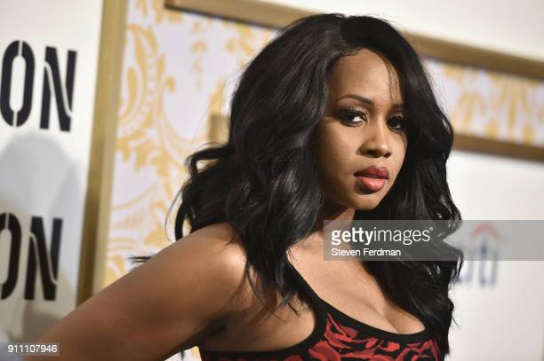 Remy Ma attends the 2018 Roc Nation PreGrammy Brunch at One World Trade Center on January 27 2018 in New York City
