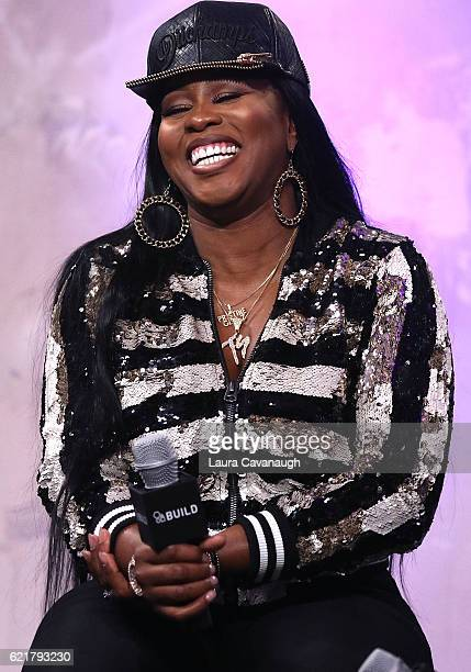 Remy Ma attends The Build Series Presents to discuss the new Album Plata o Plomo at AOL HQ on November 8 2016 in New York City