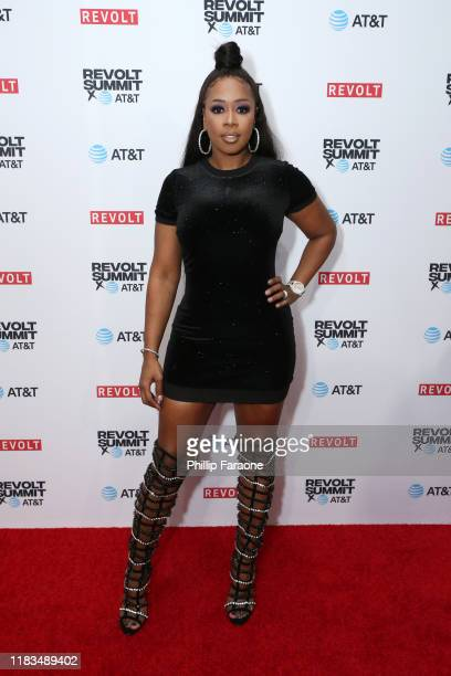 Remy Ma attends the REVOLT X ATT 3Day Summit In Los Angeles Day 1 at Magic Box on October 25 2019 in Los Angeles California