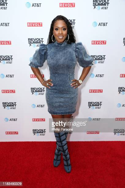 Remy Ma attends the REVOLT X AT&T 3-Day Summit In Los Angeles - Day 1 at Magic Box on October 25, 2019 in Los Angeles, California.